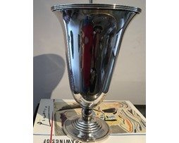 Antique Silver Plated Vase designed by luc Lanel for Christofle
