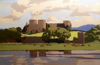 Norman Wilkinson CBE PRI Rhuddlan Castle Oil on Canvas - POA