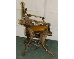 Antique 19th Century Stag Horn Chair