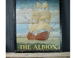 20th Century Hand Painted Pub Sign The Albion
