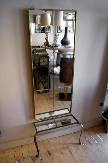 Superb Quality Brass French Hall Mirror and Table