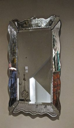 Large 1950's French Venetian Style Mirror