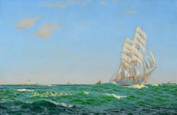 Charles Pears Clipper at Sea Oil on Canvas - POA