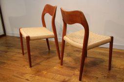 6 Niels Moller 71 J.L. Moller Teak Danish Modern Dining Chairs
