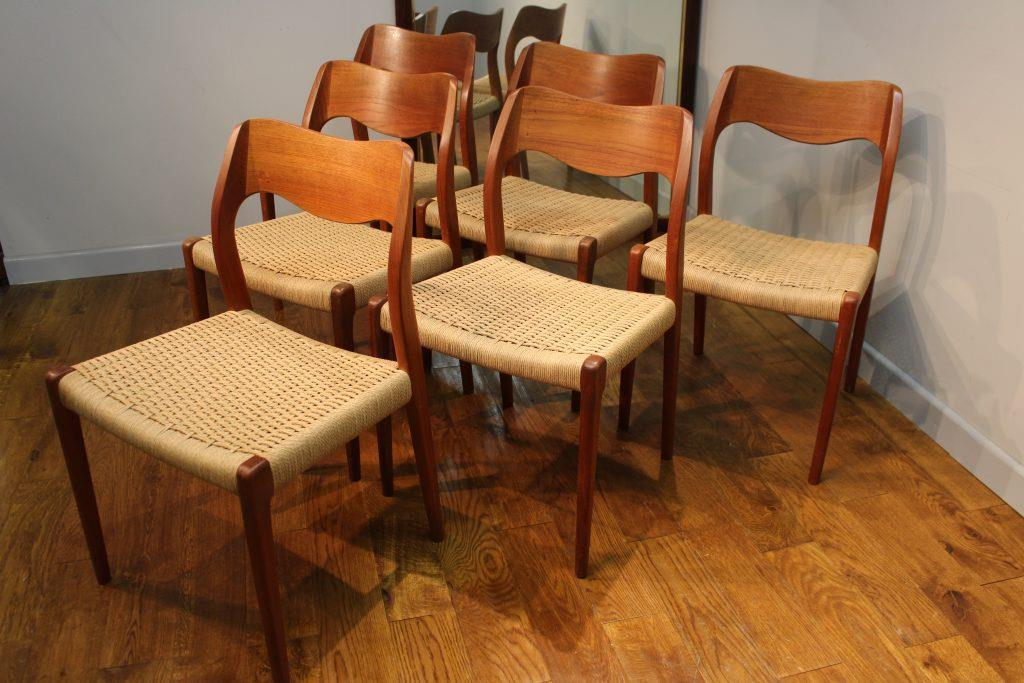 Vintage Moller Dining Chairs ~ Niels moller jl teak danish modern