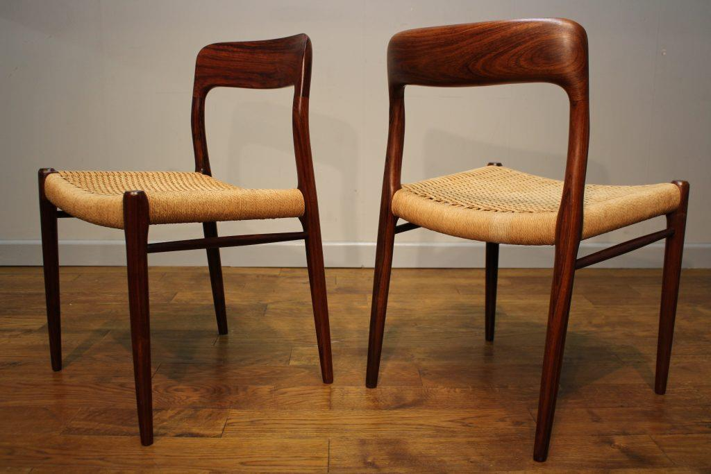6 Niels Moller Rosewood Dining Chairs U2013 Model 75