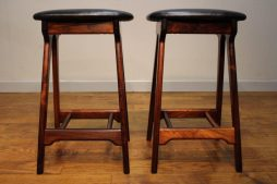 Pair of 1960's Rosewood Erik Buch Bar Stools