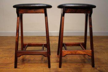 Pair of 1960's Rosewood Erik Buch Bar Stools