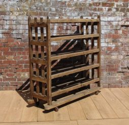 Antique Industrial Shoe Trolley Rack
