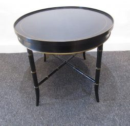 Oval Faux Bamboo Side Table