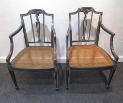 A Pair of Sheraton Style Side Chairs