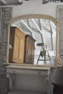 19th Century Overmantle Mirror