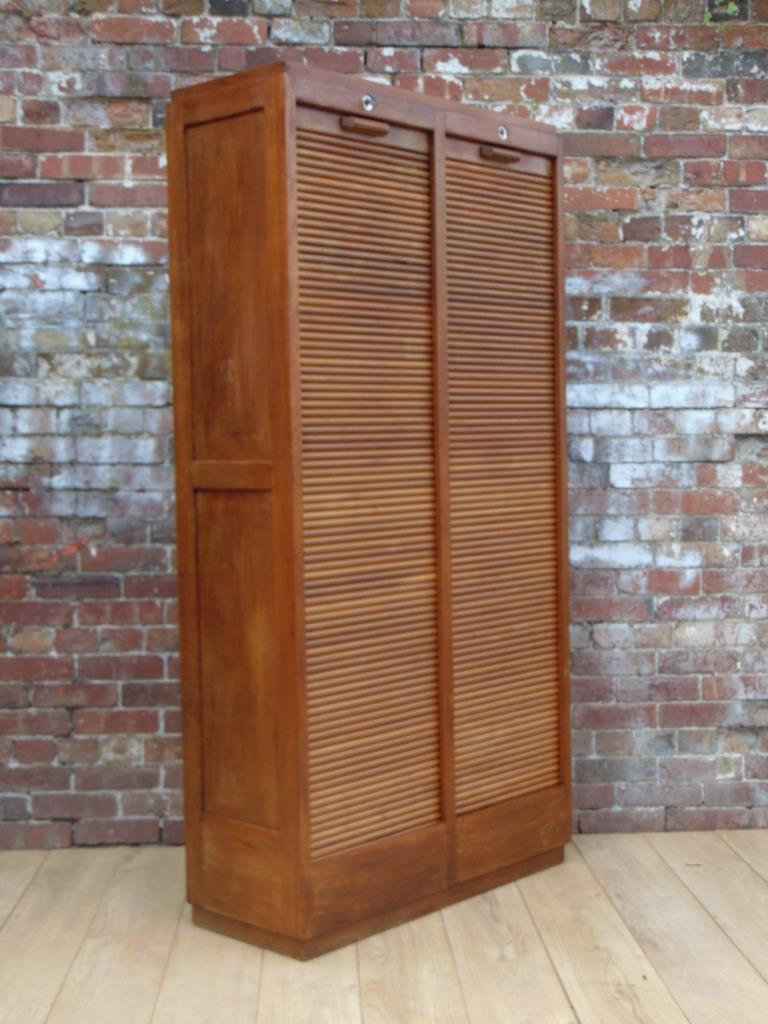 0019876 art deco industrial tambour front cabinet Boutiques deco