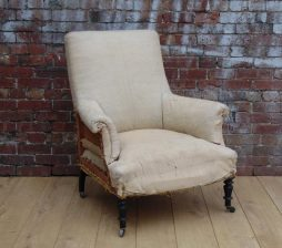 19th Century French Deconstructed Napoleon III Armchair