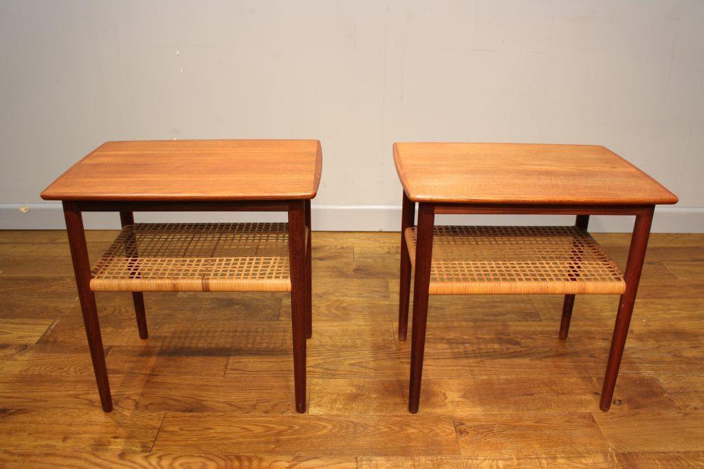 teak retro furniture. Simple Furniture Pair Of Danish MidCentury Teak And Cane Lamp Tables For Retro Furniture T