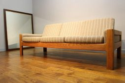 Mid-Century Eilersen of Denmark Oak Three Seat Sofa