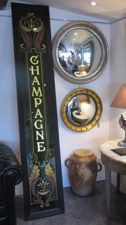 Antique Opaline Glass Shop Front Panel