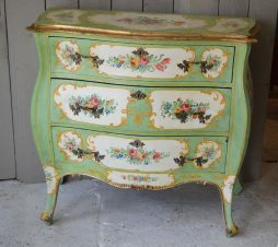 Antique Italian Hand Painted Commode