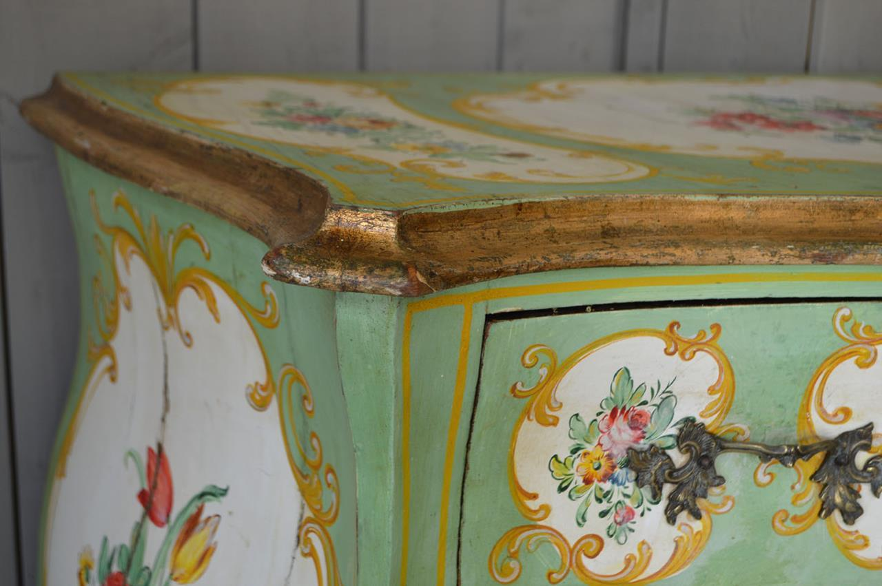 Antique Italian Hand Painted Commode Interior Boutiques