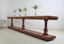 Grand Scale Antique Spanish 19th Century Console Table