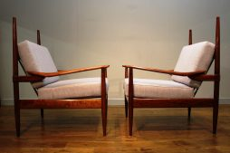 Unusual Pair of Mid-Century Armchairs