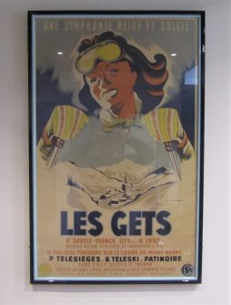 An original 1950's French ski resort poster