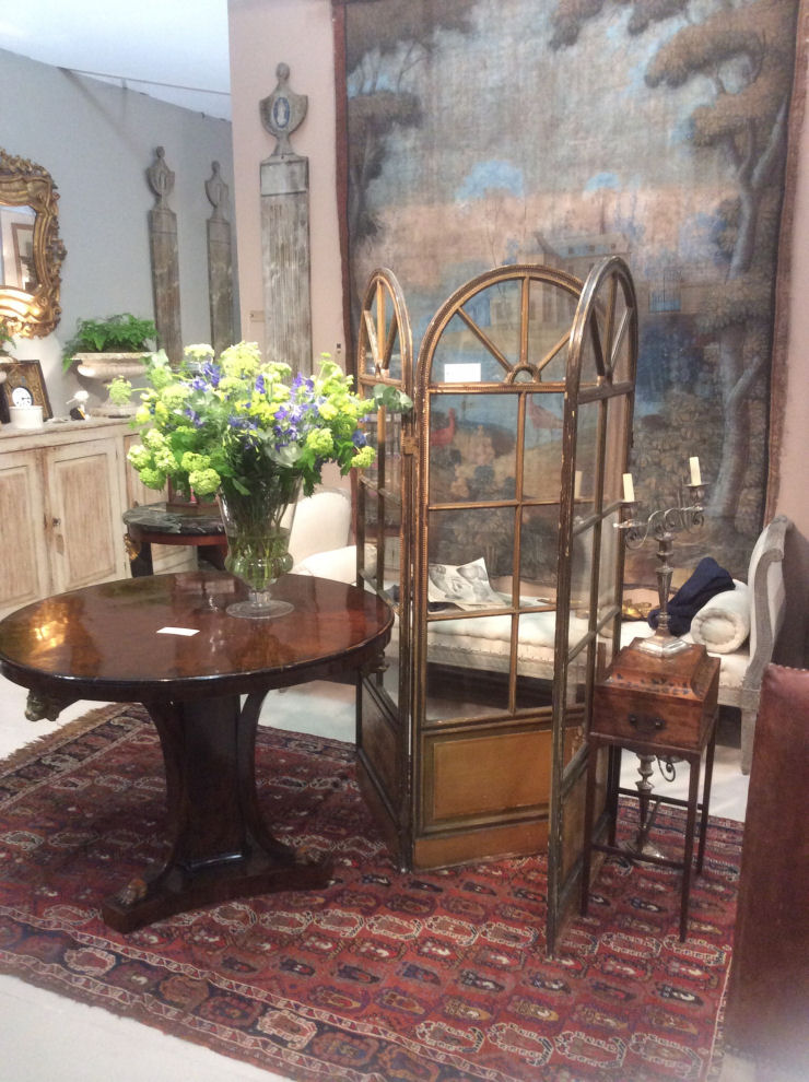 Antique French leather chairs