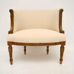 Antique 19th Century French Gilt Wood Armchair