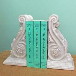 Marbled  Corbel Bookends