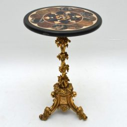 Antique Specimen Marble Top Gilt Bronze Table – Elkington & Co