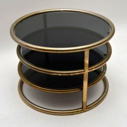 Retro Italian Brass Coffee Table Vintage 1970's