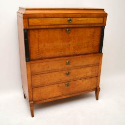 Antique Swedish Biedermeier Secretaire Desk / Bureau
