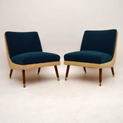 Pair of Retro Danish Easy Chairs Vintage 1950's
