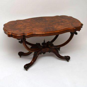 Antique Victorian Burr Walnut Centre Table