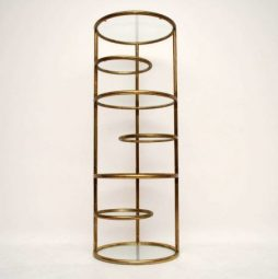 Retro Italian Brass Shelving Stand Vintage 1970's