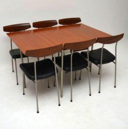 Retro Stag Teak Dining Table & 6 Chairs by John & Sylvia Reid Vintage 1950's