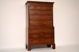 Antique Period Georgian Mahogany Chest on Chest Tallboy 1790s