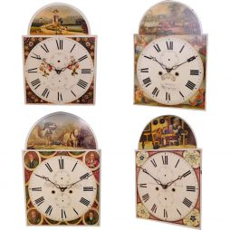 4 Historic & Working 'Grandfather' Clock Dials from England