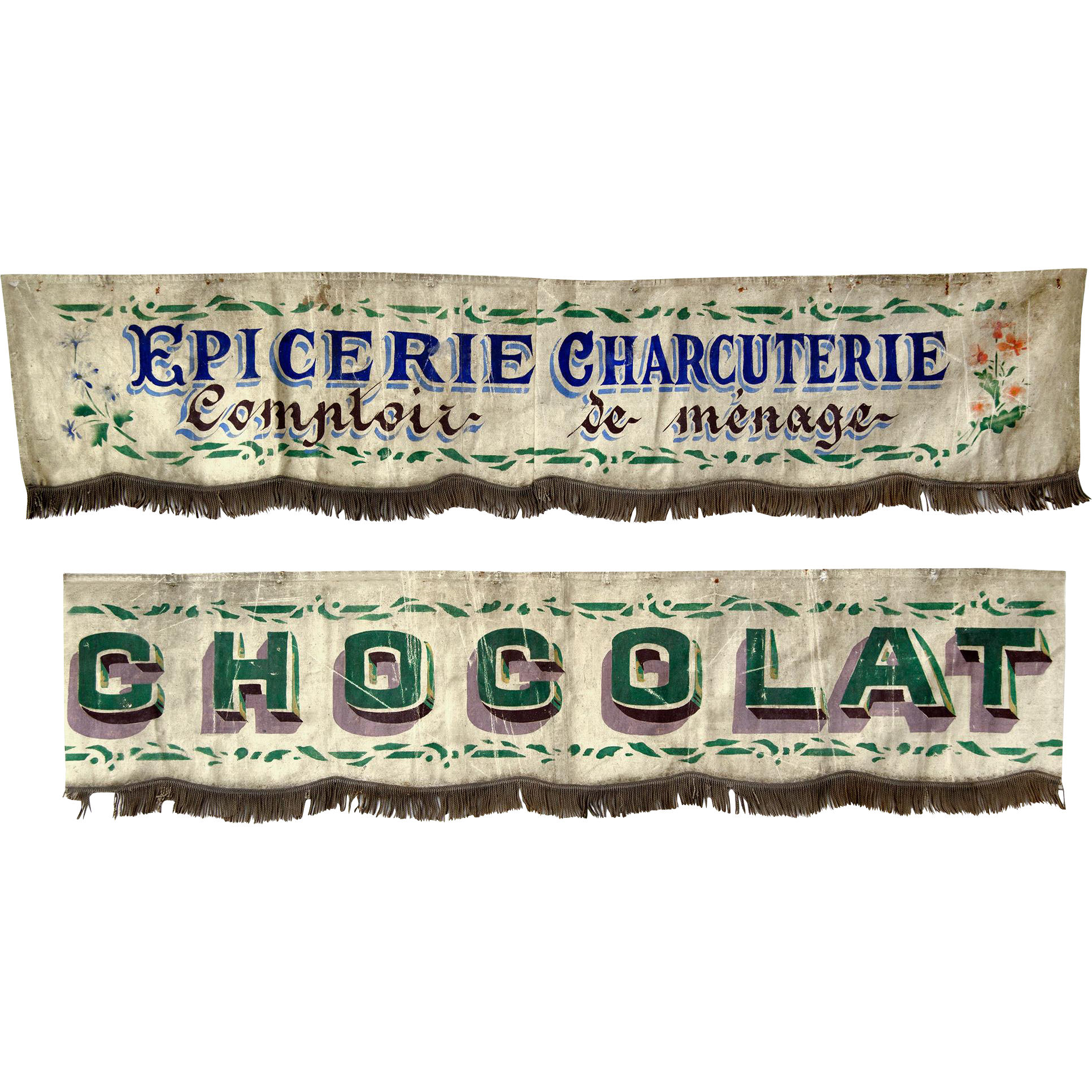 Vintage Awnings From A French Shopfront Interior Boutiques