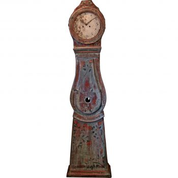 Antique Swedish Country Grandfather Clock