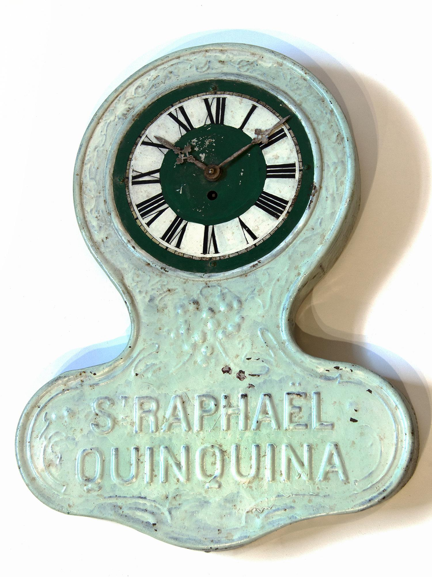 Rare Antique Tin Advertising Wall Clock From France
