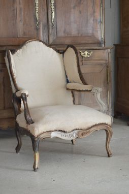 19th C wingback chair