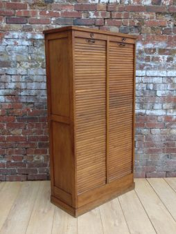 Industrial Tambour Front Haberdashery Cabinet
