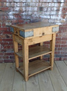 Maple Butchers Block On Stand