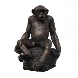 BRONZE CHIMPANZEE SCULPTURE