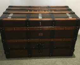 Vintage three drawer steamer trunk