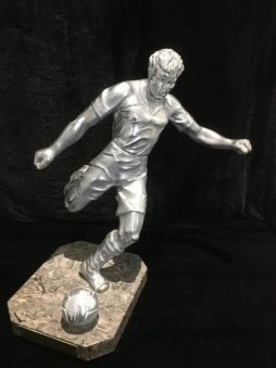 Aluminium football trophy