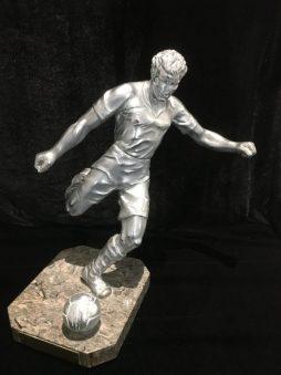 Aluminium football trophy