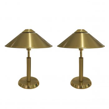 1960's PAIR OF BRASS LAMPS
