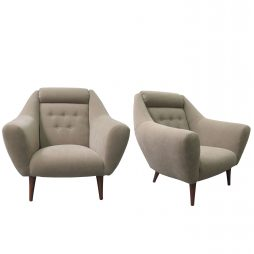 1960'S LARGE PAIR OF ARMCHAIRS